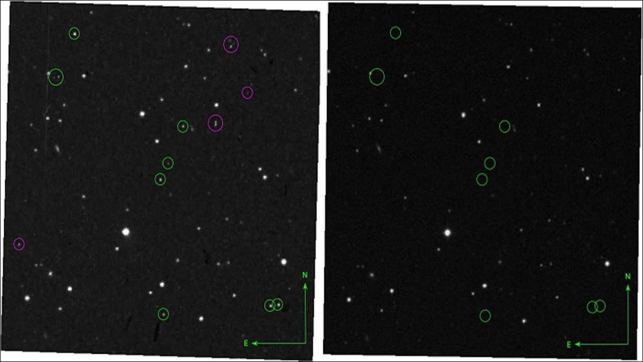 Astronomers find a group of appearing and disappearing stars