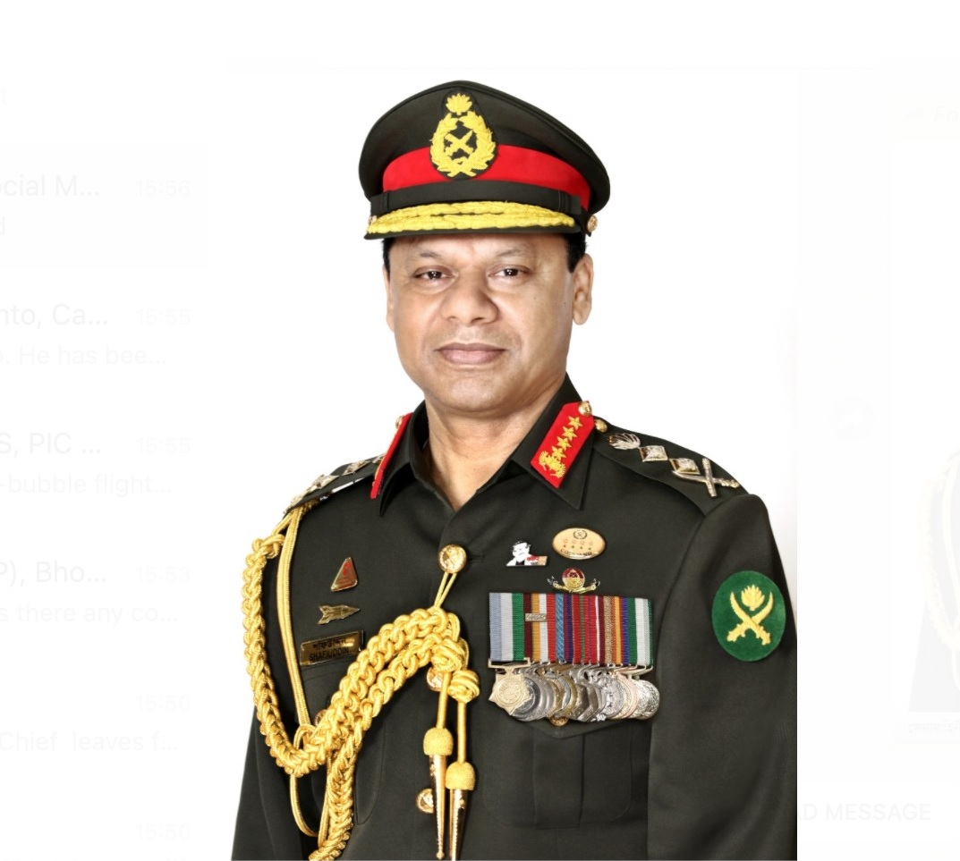 Bangladesh Army Chief  leaves for 3-day visit to India