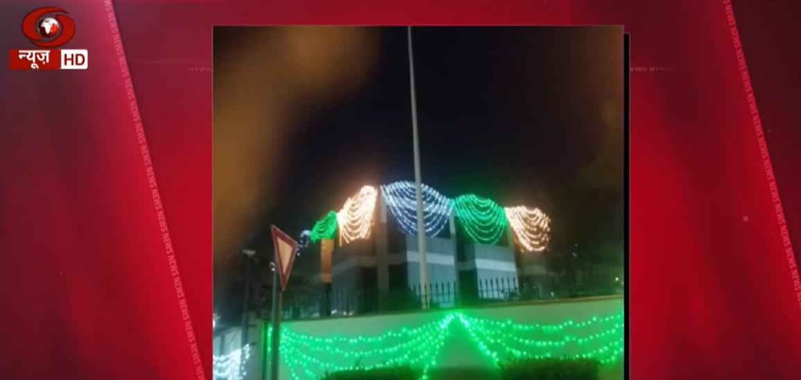 550th Birth Anniversary of Guru Nanak Dev: Indian Consulate in Dubai illuminated