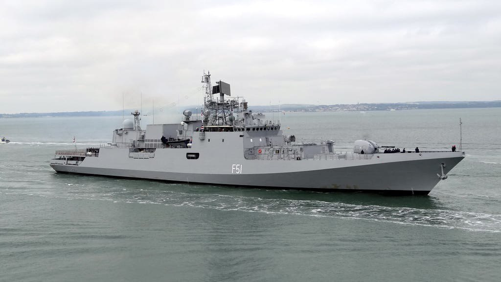 Maiden Indian Navy - European Naval Force (EUNAVFOR) Exercise in Gulf of Aden