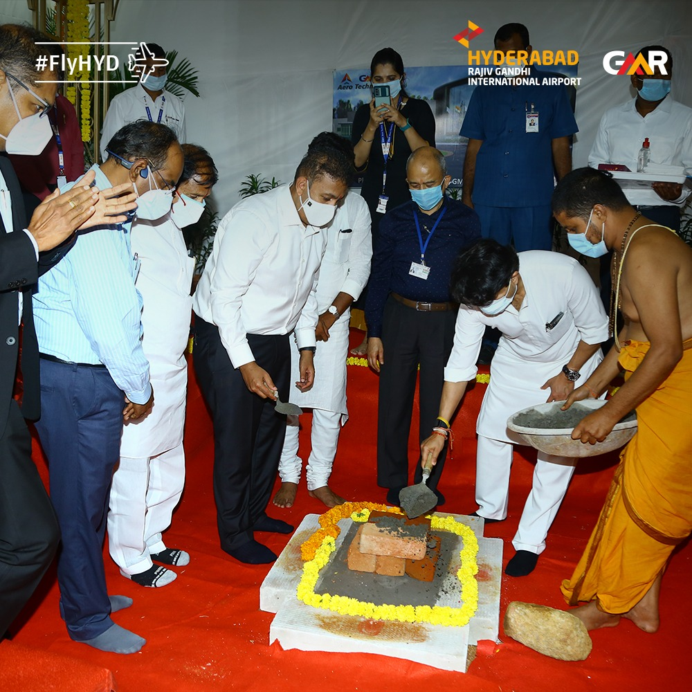 Minister for Civil Aviation lays Foundation Stone for GMR School of Aviation