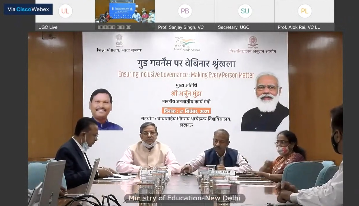 Ministry of Education and UGC organisea Webinar on Ensuring Inclusive Governance: Making Every Person Matter'