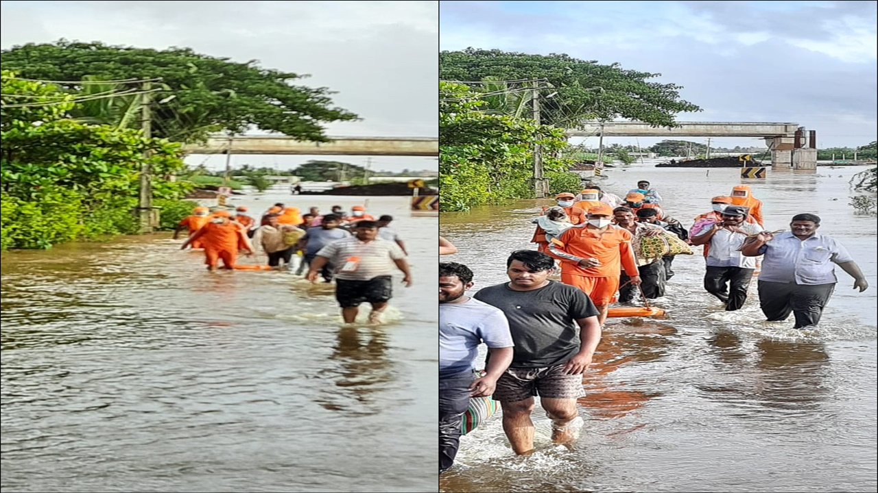NDRF teams continue rescue & relief work in flood hit Maharashtra
