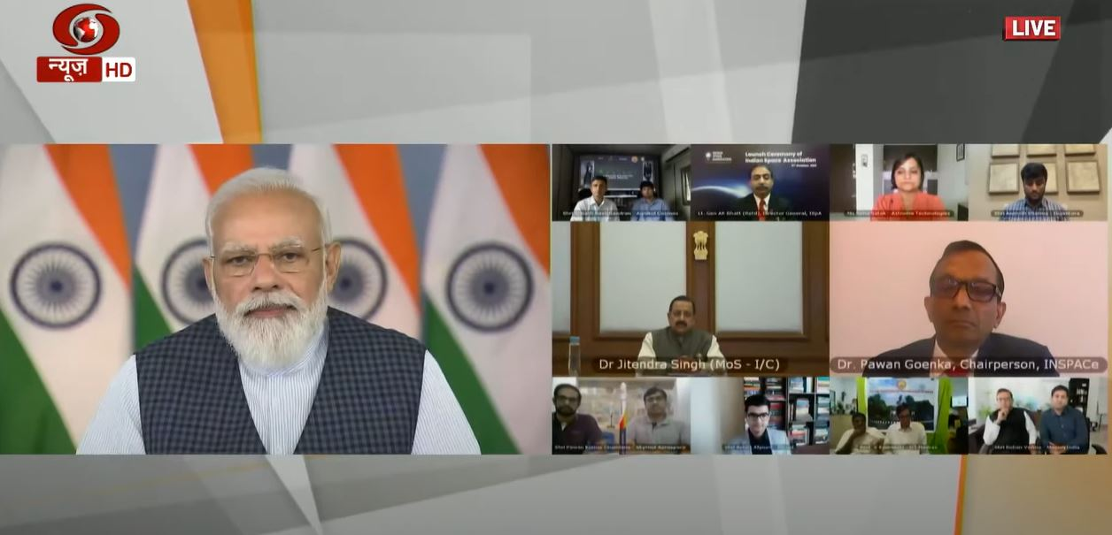 PM launches Indian Space Association