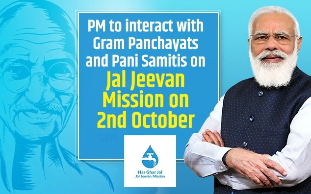 PM Modi to interact with Gram Panchayats and Pani Samitis on Jal Jeevan Mission on 2nd October