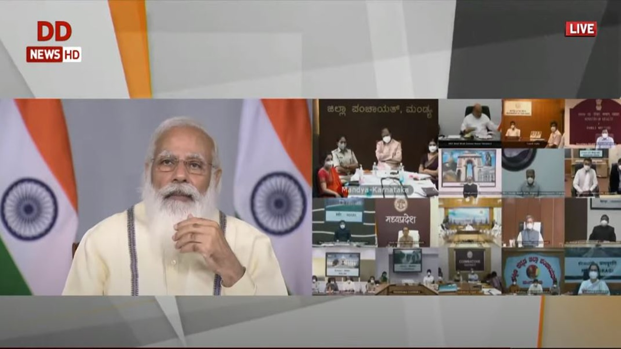 PM Modi interacts with State & District Officials on COVID-19 situation