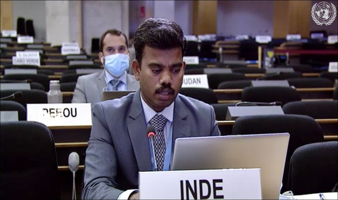 Pakistan effected demographic change by reducing & driving real Kashmiris out: India at UNHRC