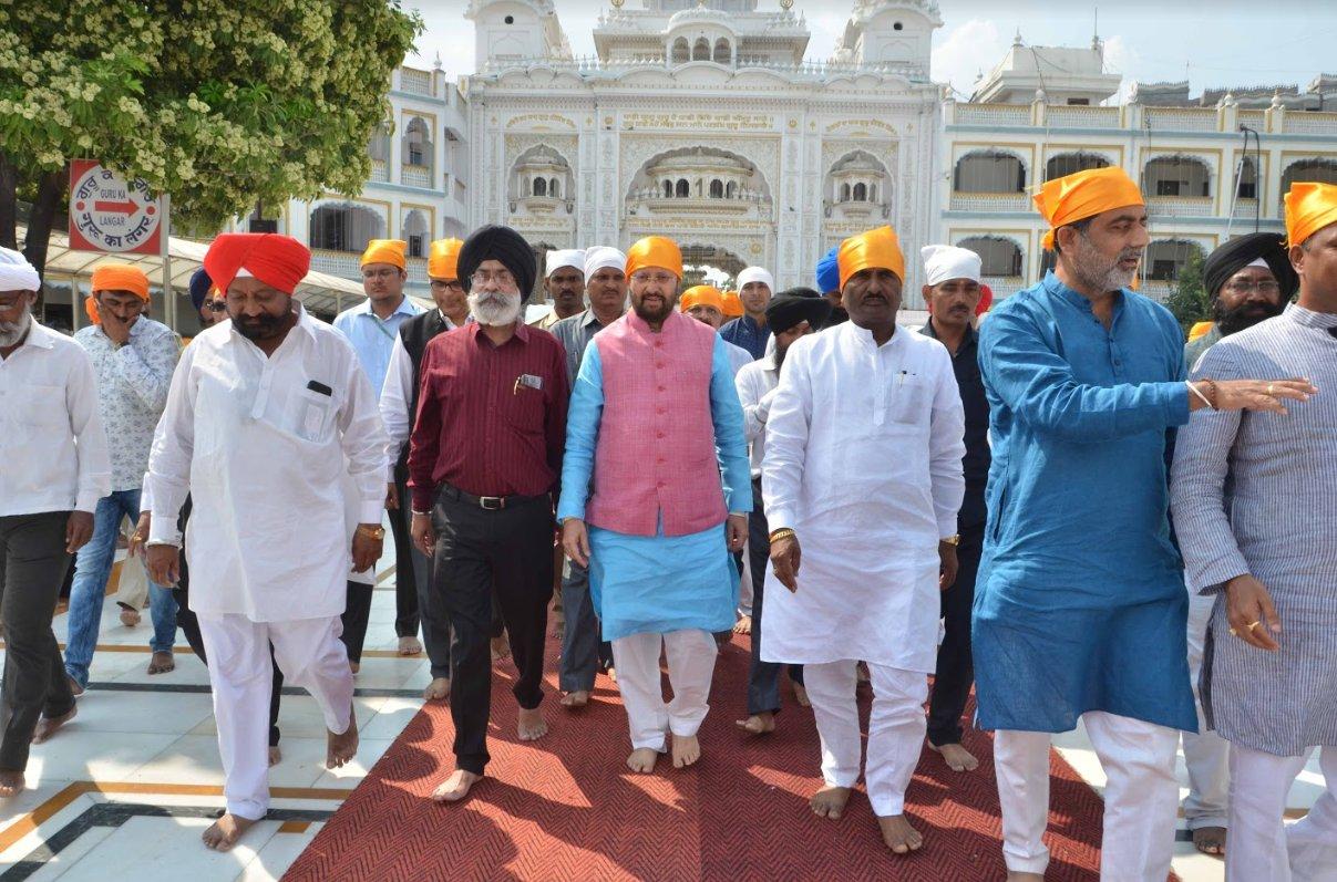 Union Minister Prakash Javdekar attends Prakash Parv celebration in Nanded