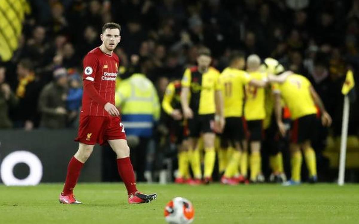 Watford break Liverpool's unbeaten run in English Premier League