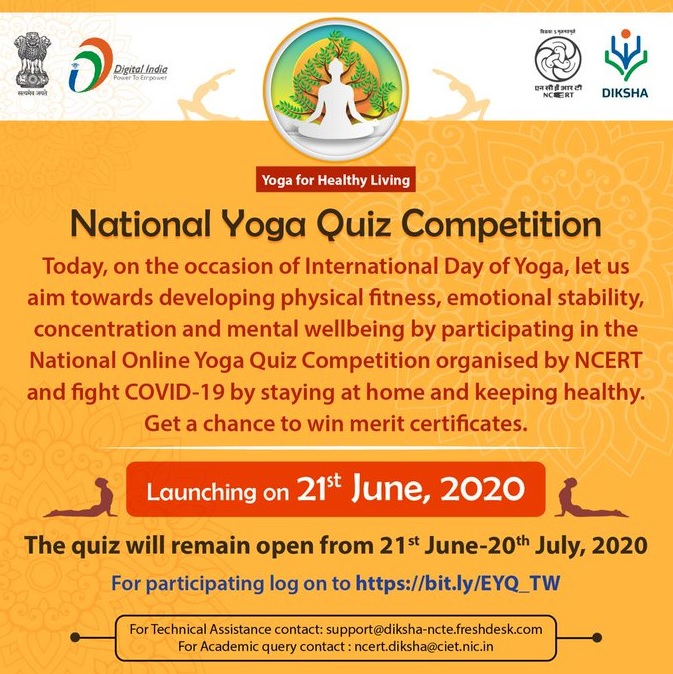 NCERT launches Online Yoga Quiz Competition to promote integration of Yoga in school curriculum