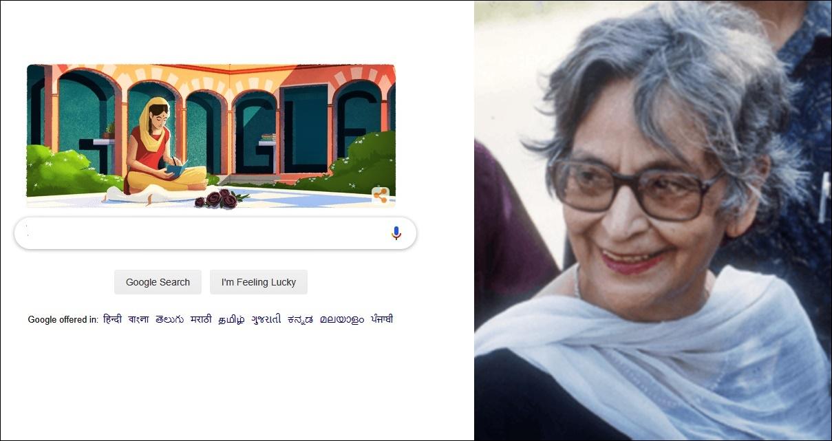 Google Doodle Honours Amrita Pritam on 100th Birth Anniversary