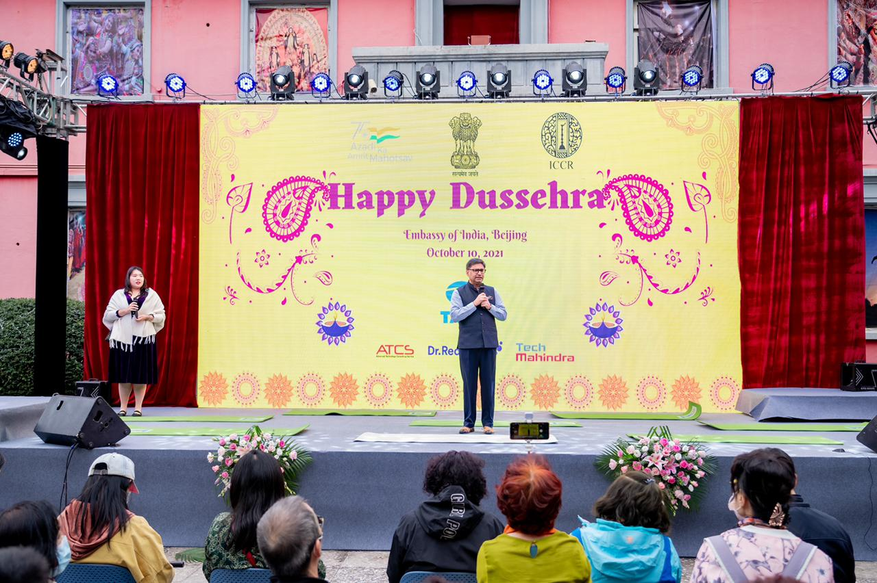 Grand Dussehra celebrations at Indian Embassy in Beijing enthralls the international community