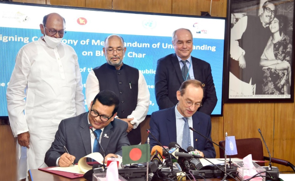 Bangladesh- UN sign MoU on relocation of Rohingya refugees to Bhashan Char island