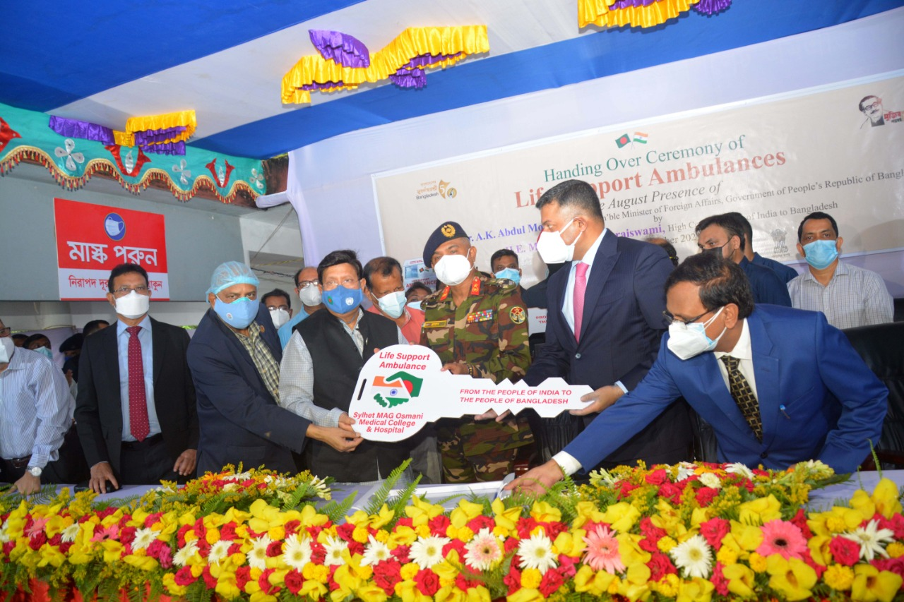 Life support ambulances handed over to Bangladesh hospital
