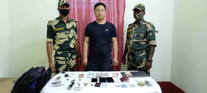 Chinese national arrested trying to enter India from Bangladesh
