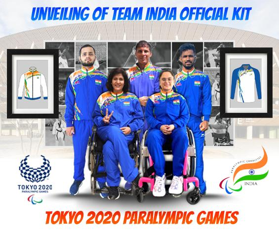 Paralympic Committee of India unveils kit for the Tokyo Games