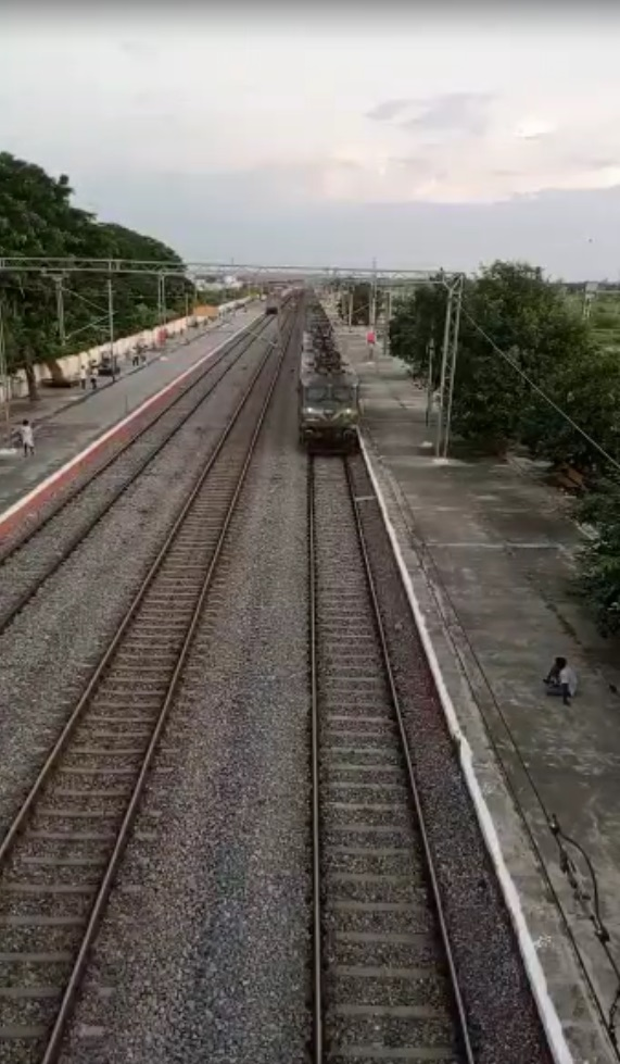Railways successfully operated two long haul freight trains 'Trishul' and 'Garuda' for first time over South Central Railway