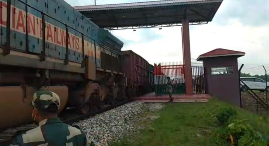 Regular freight train service starts between India and Bangladesh on the revived Haldibari-Chilahati rail route