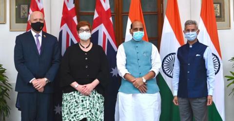 भारत-आस्ट्रेलिया के बीच हुई पहली 2+2 मंत्रिस्तरीय वार्ता, साइबर सुरक्षा और रक्षा क्षेत्र में सहयोग और लेकर चर्चा