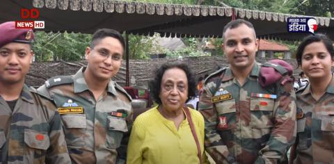 'तेजस्विनी' में देश की पहली महिला पैराट्रूपर और भारतीय सेना की पहली महिला सर्जन लेफ्टिनेंट कर्नल (सेनि) जे. फरीदा रेहाना से बातचीत