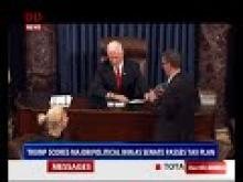 Trump Scores major political win as Senate passes Tax Plan
