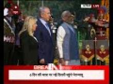 PM Modi & Israel PM Netanyahu pay homage at Teen Murti Chowk in New Delhi