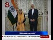 Sushma Swaraj makes stopover at Tehran on return from Russia