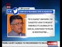 Govt committed to freedom of Press and to maintain security & sanctity of Aadhaar: R.S. Prasad