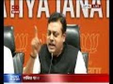 BJP leader Sambit Patra addresses the media