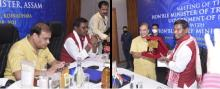 Tribal Affairs Minister Arjun Munda reviews implementation of Tribal Development programmes on the first day of his two day visit to Assam