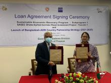 ADB signs agreement with Bangladesh for first tranche of USD 400 million loan for highway development