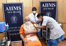 PM Modi receives second dose of COVID-19 vaccine at AIIMS