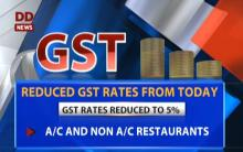 New GST rates implemented from today