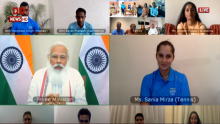 PM Modi interacts with Indian athletes' contingent bound for Tokyo Olympics