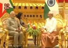 PM Modi calls on Myanmar President U Htin Kyaw