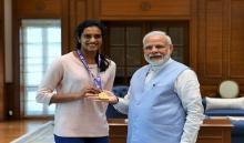 वर्ल्ड बैडमिंटन चैंम्पियन पी वी सिंधु ने प्रधानमंत्री से की मुलाकात
