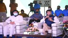 Union Minister Minister Anurag Singh Thakur watches Olympics opening ceremony with sporting legends; interacts with Gopichand, Hima Das
