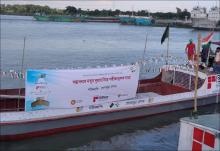 Trial run on new river route connecting Bangladesh with Tripura starts