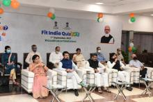 Union Ministers Anurag Thakur, Dharmendra Pradhan launch first-ever nation-wide quiz on sports & fitness