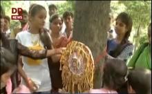 UP: Women, children tie 'Rakhis' to Trees on eve of Raksha Bandhan