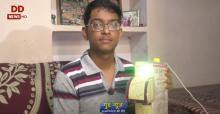 आत्मनिर्भरता की ओर: फतेहपुर के बीटेक छात्र ने बनाई सेंसरयुक्त हैंड सैनेटाइजिंग मशीन