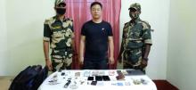 Border Security Force arrest Chinese intruder
