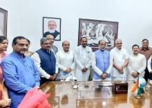 Former Union Minister Vijay Goel takes charge as Vice Chairman of Gandhi Smriti and Darshan Samiti