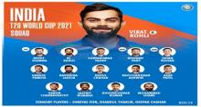 BCCI announces 15-member Indian squad for T20 World Cup
