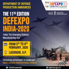 DefExpo to be held in Lucknow from 5th to 8th February 2020