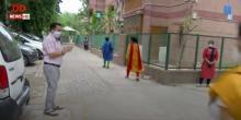 दिल्ली स्थित मंदिर मार्ग के लोगों ने किस तरह कोरोना वॉरियर्स का किया स्वागत