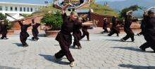 Drupka nuns train women in Kung Fu