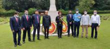 Tributes paid to fallen Indian soldiers at Chattogram in Bangladesh