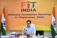 Union Sports Minister Kiren Rijiju calls upon celebrities, corporates, athletes to revolutionise Fit India Movement