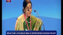 EAM Sushma Swaraj attends Eastern Economic Forum in Russia